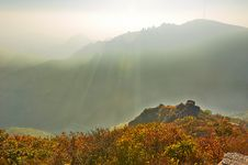 Free The Deep Hollow Of Autumn Zu Mountain Stock Photo - 35107390