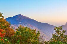 Free The Apsara Peak And Autumn Trees Sunset Stock Photos - 35107603