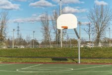 Free Basketball Hoop In Park Stock Photos - 35108443