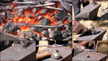 Free HD MONTAGE: Iron Flowers Royalty Free Stock Image - 35111686