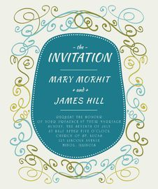 Free Scribble Invitation Stock Photo - 35111530