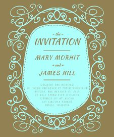 Free Scribble Invitation Stock Photos - 35111543