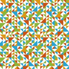 Seamless Geometric Pattern With Triangle. Stock Images