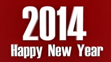 Free 2014 Happy New Year White On Red Royalty Free Stock Photography - 35116617