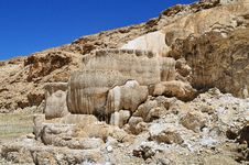 Free Tibet. Hot Spring Bath Formed From Limestone . Stock Photo - 35116790