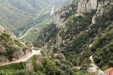 Free Spain. Catalonia. Montserrat. Stock Photo - 35118720
