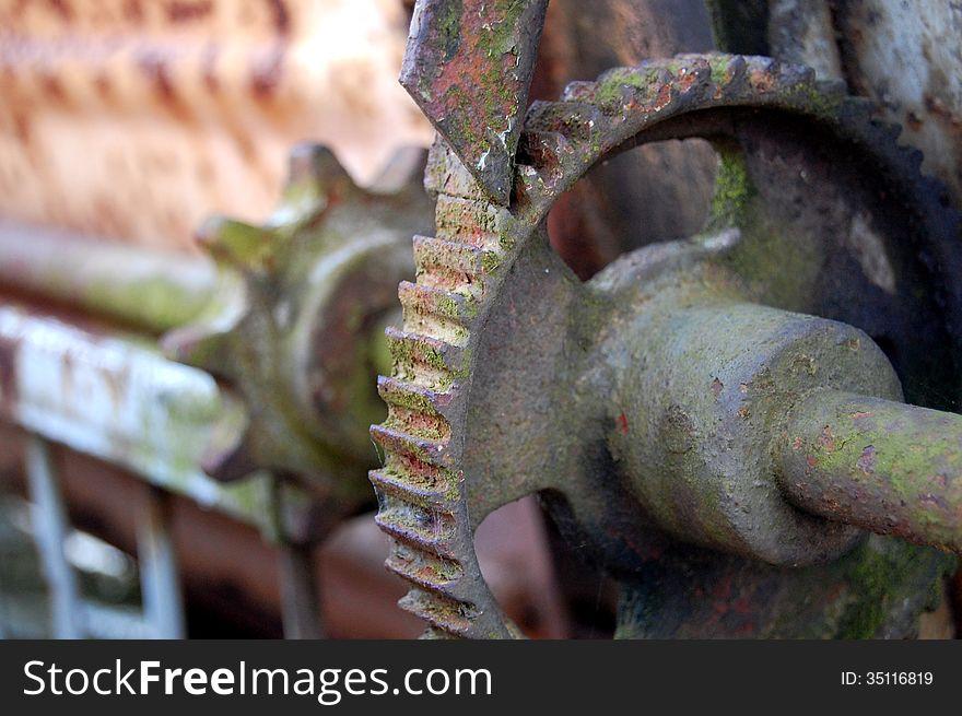 Old rusty gears
