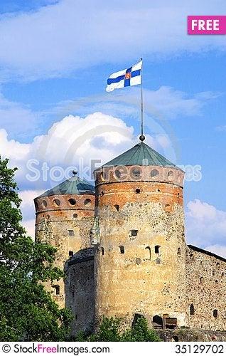 Free Fortress Olavinlinna Stock Photography - 35129702