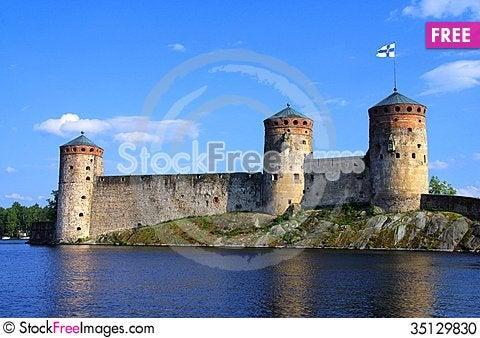 Free Olavinlinna Fortress Stock Photo - 35129830