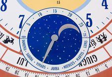 Free Close-up On Giant Calendar Wall Clock Stock Images - 35120464