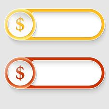 Free Buttons With Dollar Sign Royalty Free Stock Photos - 35121428