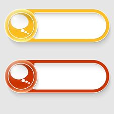 Buttons With Speech Bubble Stock Image