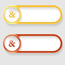 Free Two Vector Abstract Buttons Stock Photography - 35121482