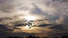 Jet Airplane Landing Royalty Free Stock Images