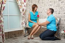Free Marriage Proposal Royalty Free Stock Images - 35122149