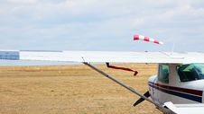 Free Airfield In The Steppe Stock Photos - 35122703