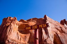 Free Rain God Mesa; Monument Valley National Park, Ariz Royalty Free Stock Photo - 35122725