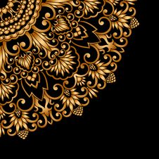 Free Vector Gold Ornament. Stock Photo - 35124130