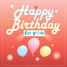Free Happy Birthday Card Stock Photography - 35129482