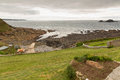 Free View From Cape Cornwall To Lands End Cornwall On An Overcast Day Stock Photography - 35138982