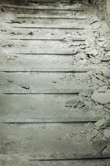 Free Ruined Staircase Royalty Free Stock Photo - 35130755