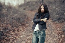 Free Young Beautiful Woman Outdoors Portrait Stock Photo - 35131160
