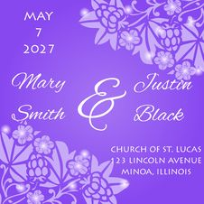 Free Wedding Card Royalty Free Stock Photography - 35136617