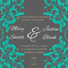 Free Wedding Card Royalty Free Stock Photos - 35136618