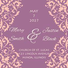 Free Wedding Card Royalty Free Stock Photos - 35136708