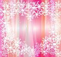 Free White Snowflakes On Pink Background Royalty Free Stock Photo - 35148045