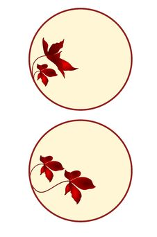 Free Button, Banner, Circle With Floral Set The Fourth Royalty Free Stock Photography - 35140457