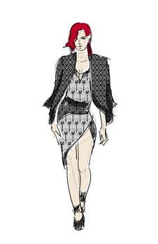 Sketch. Fashion Girls Royalty Free Stock Image