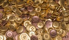 Free Gold, Copper & Bronze Buttons Stock Photography - 35141782