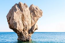 Seascape With Stone Stock Image