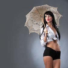 Free Under The Umbrella Stock Image - 35145051