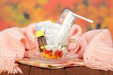 Free Different Medicines In A Cup Stock Photos - 35145493