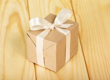 Free Gift Box From A Kraft Paper Stock Photo - 35145520