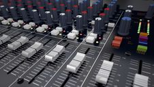 Free Audio Mixer Royalty Free Stock Photography - 35146307