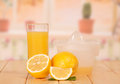 Free Cut Lemon, Juice Extractor And Glass Stock Image - 35150361
