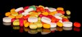 Free Handful Of Multi-colored Tablets Stock Image - 35150481