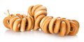 Free Tasty Bagels On Rope Royalty Free Stock Photography - 35155907