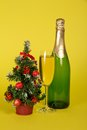 Free Bottle And Wine Glass With Champagne Royalty Free Stock Photography - 35156037