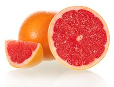Free Grapefruit In A Section Stock Photography - 35150242