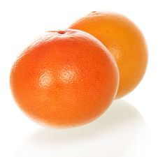 Free Two Grapefruits Royalty Free Stock Photo - 35150305