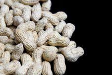 Free Peanuts On Black Stock Photo - 35155350