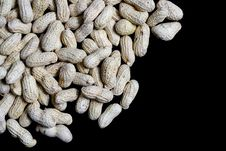 Free Peanuts On Black Stock Photo - 35155940