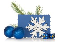 Free The Fir-tree Branch, Two Christmas Toys, Snowflake Stock Photo - 35156100