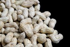 Free Peanuts On Black Royalty Free Stock Images - 35157549