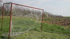 Free Soccer Goal Royalty Free Stock Image - 35158636