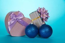 Free Two Gift Boxes And Christmas Toys Stock Photos - 35159133